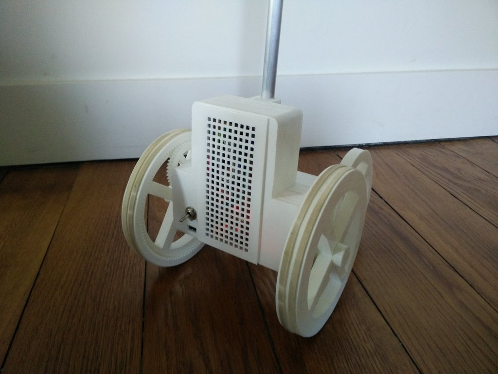 The four-wheel base of the telepresence robot