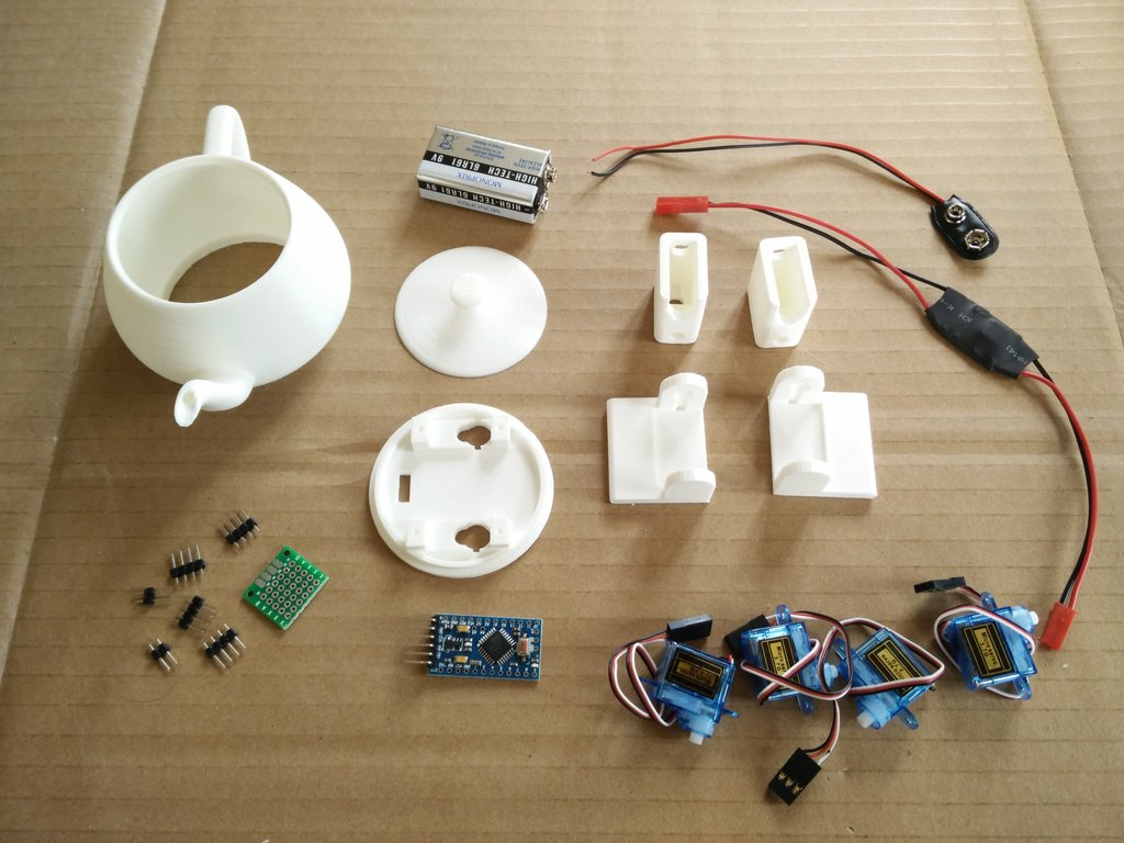 The components ready to assemble