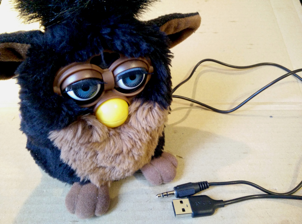 The Furby with its fur back on
